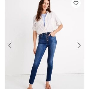 "Madewell 10"" High-Rise Skinny Crop Jeans Tencel"